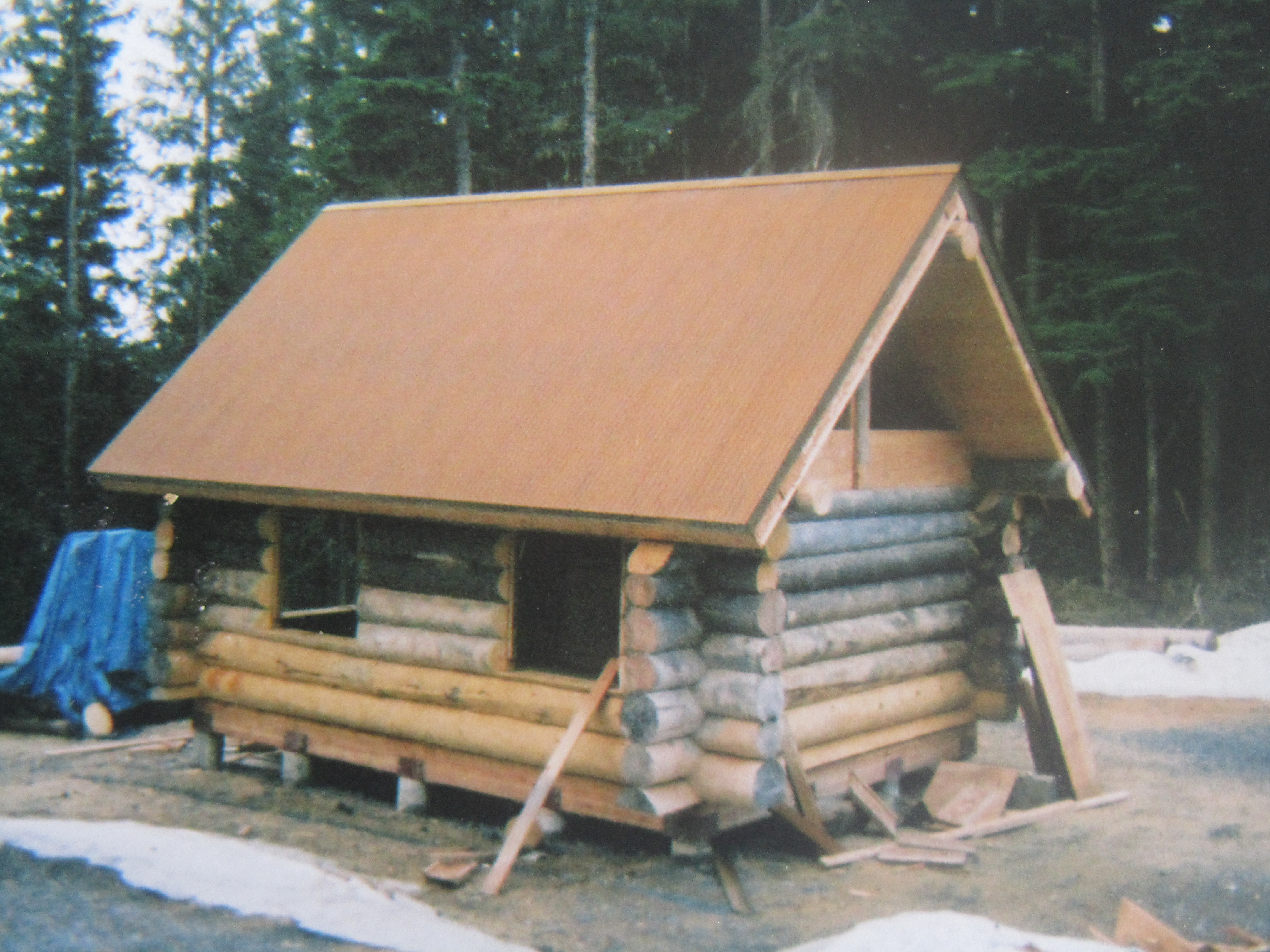 Building The Alaskan Log Cabin Just Another Adventure Blog