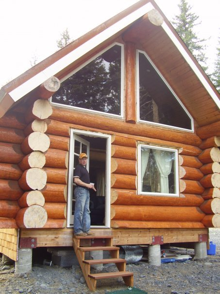 Building the alaskan log cabin just another adventure blog for Alaska log home builders