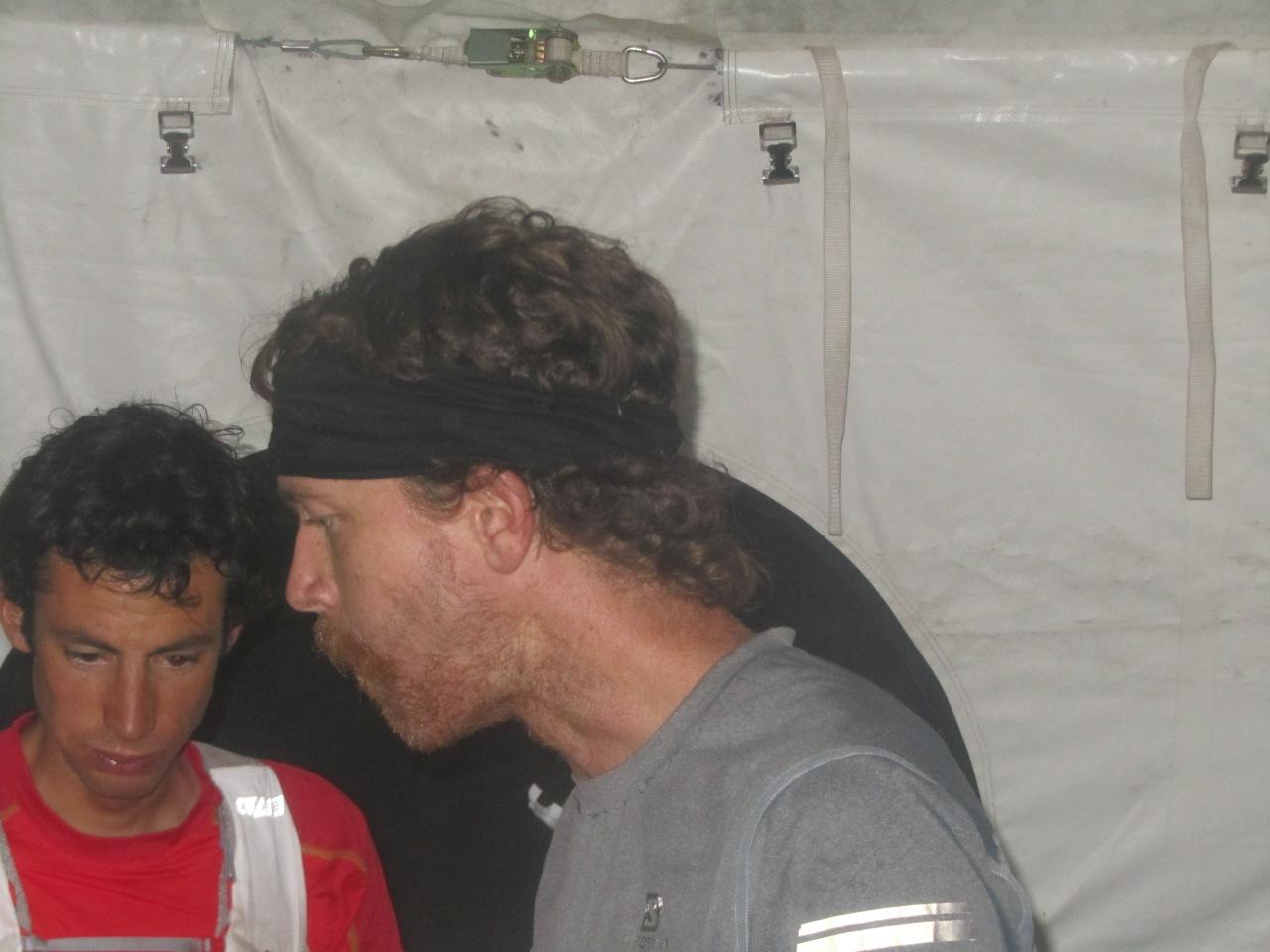 Kilan Jornet and Rickey Gates at Burrows Park