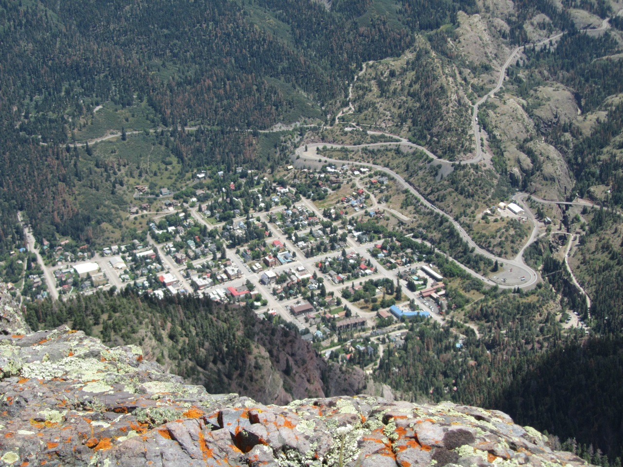 OURAY FROM THE TOP OF TWIN PEAKS