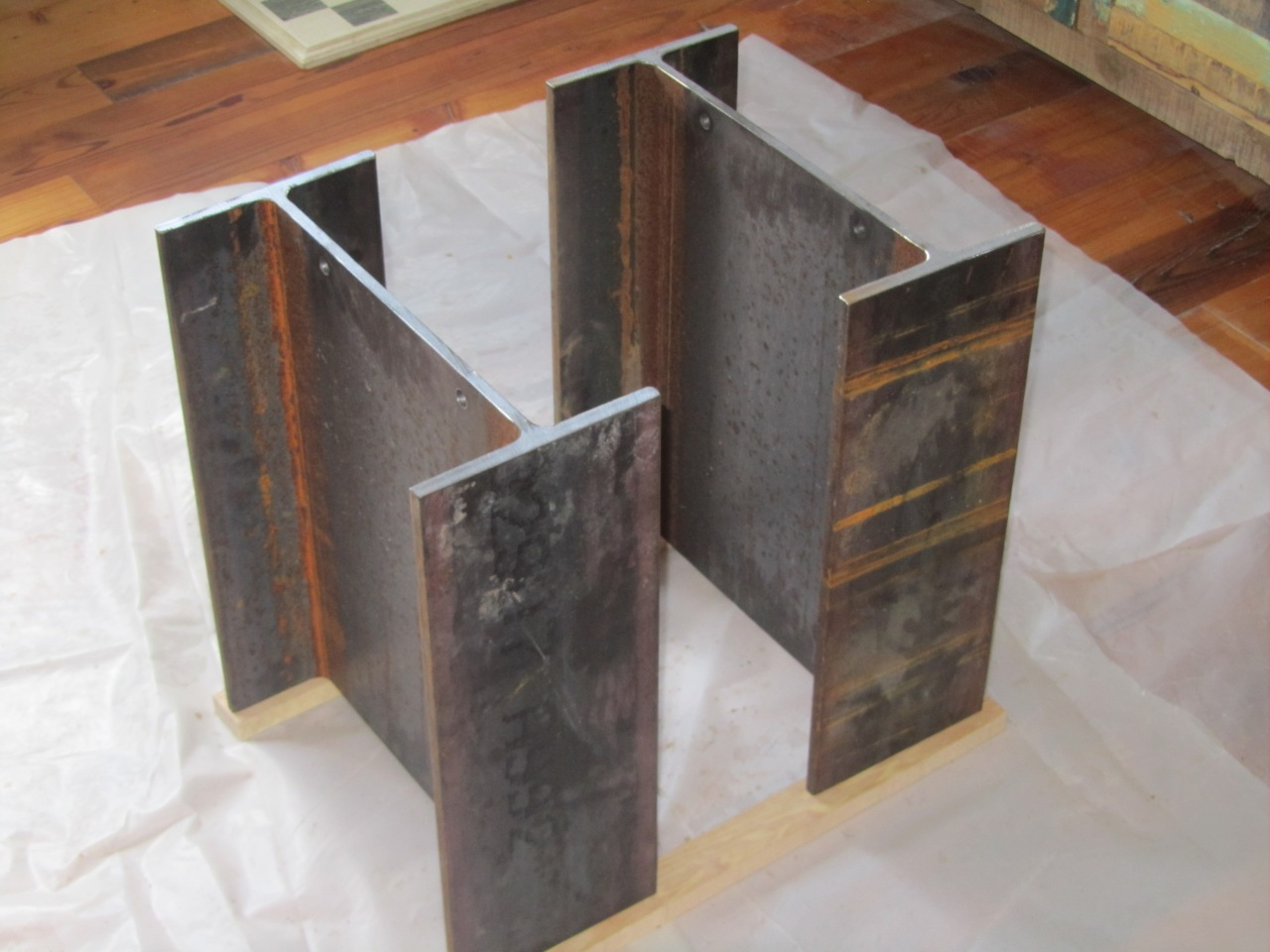 "W14 X 38 STEEL I BEAM, 18"" LONG, WITH (2) 1/2"" HOLES IN EACH"